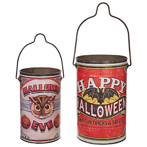 RAZ Imports Happy Halloween Set mit 2 Verschiedenen Deko-Eimern (Für Halloween Zimmer Mutter-ideen)