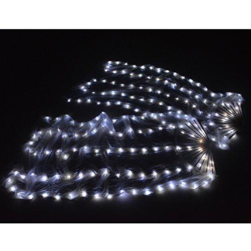 LED Silk Fan Schleier Bauchtanz Licht Party Bühne Requisiten Für Erwachsene 1.65 ()