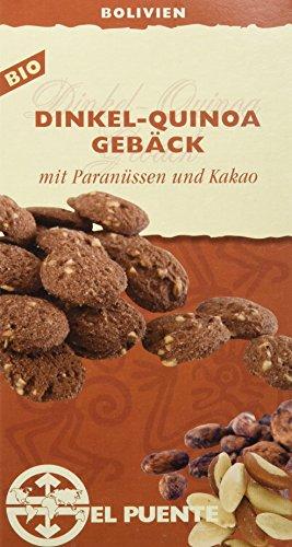 El Puente Dinkel-Quinoa-Gebäck mit Paranüssen & Kakao, 6er Pack (6 x 150 g Packung)