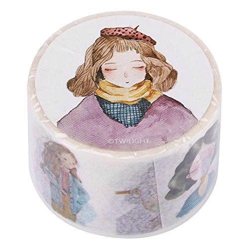 Dekorative Washi Masking Tape für DIY Craft Collection Scrapbooking Mit Bunten Mustern(30mm/1.18in-Girls)