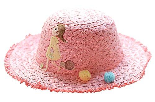 FEOYA Niñas Sombrero de Paja Gorro de Sol Gorra Playero Protección contra  Sol Estampados Lindos Elegante b4f57fa8ad9a