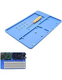 HITSAN INCORPORATION Geekworm 5 in 1 RAB Holder Breadboard ABS Base Plate for Arduino UNO R3 MEGA2560 Raspberry Pi