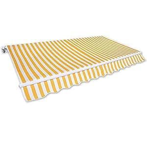 Gelenkarm Markise 3 X 2 5 M Gelb Wei Sonnenschutz