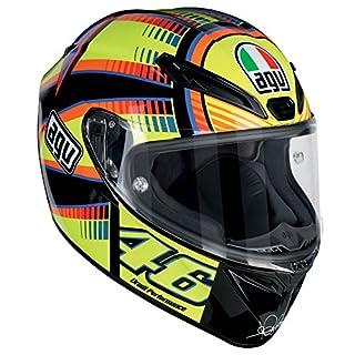AGV Motorradhelm Veloce S E2205 Top PLK, Soleluna Gelb, Größe XL