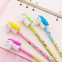 Party Propz 12 Pcs Unicorn School Supplies for Girls Eraser top for Unicorn Birthday Supplies or Return Gifts for Birthday Party