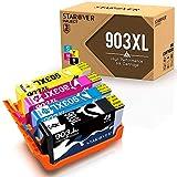 4-Packung für HP 903 XL 903XL (mit Neuestem Chip) Kompatibel Druckerpatrone, Benutzen für HP Officejet Pro 6950 6960 6970 6975 All-in-One Drucker