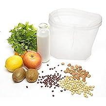 Bolsa para hacer leches,Bolsa para Leche de Nuez,Bolsa filtro, Perfect Filtration 200 Micron, sin BPA,Robusto / Ecológico / Reutilizable, Rápida limpieza y secado, prepara leches orgánicas almendra / avellana / fruta, favoritos vegetarianos. (lot de 1)