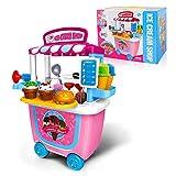 GizmoVine Enfant Jouets Rôle Playset, 31pcs Crème Glacée Jeu de Simulation Alimentaire pour 2 3 4 Ans Filles Tout-Petits