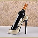 ULTNICE High Heel Wein Rack Flasche Halter Home Dekoration Schmuck Kunsthandwerk (Champagner)