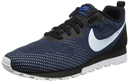 Nike Herren MD Runner 2 Eng Mesh Laufschuhe, Schwarz (Black/White-Blue Nebula 007), 45 EU