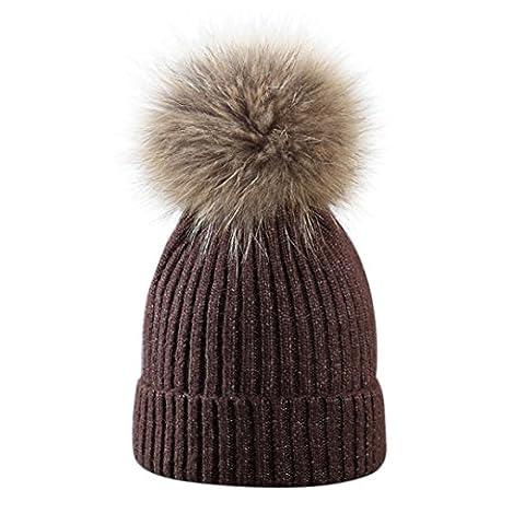 Baggy Beanie Knit Hat, FeiliandaJJ Men's Women's Winter WarmFashion Ski Hat Skull Cap (F)