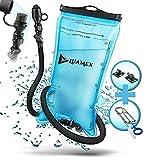 Luamex® Trinkblase 2L - Wasserblase - BPA frei - Trinksystem mit On/Off Ventil, isoliertem Trinkschlauch - zum Radfahren, Wandern, Camping, Outdoor