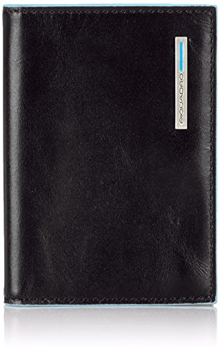 Piquadro PP1661B2 Porta Carte di Credito, Collezione Blu Square, Nero