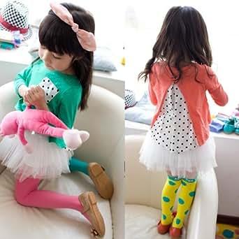 LW Girls Cool Ballet Tutu Dress,Green & White,9-10Yrs