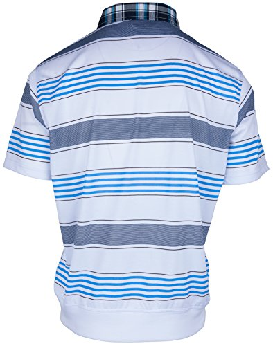 Polohemd Poloshirt für Herren von SOUNON, verschiedene Farben - Größe M bis 5XL Weiss (M5)