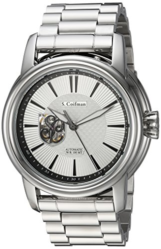 S. Coifman Men's 'Origins' Automatic Stainless Steel Casual Watch, Color:Silver-Toned (Model: SC0421)