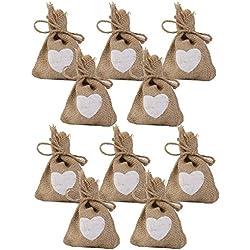 Bolsas Corazón grabado paquete de 10 piezas
