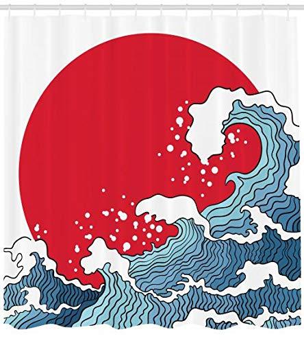 ABAKUHAUS Ola Japonesa Cortina de Baño