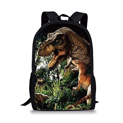 POLERO Dinosaurier-Dino Kinder Rucksack Vintage-Campus Schoolbag Nette Kinder Schulter Bookbag 3D Printed Rucksack Outdoor-Reisetaschen für Mädchen und Jungen (T-rex) -
