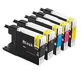 ZR-Printing Ersatz für Brother LC985 985XL Druckerpatronen Hohe Kapazität Kompatibel mit Brother DCP-J125 DCP-J315W DCP-J515W MFC-J265W MFC-J410 MFC-J415W MFC-J220 Drucker