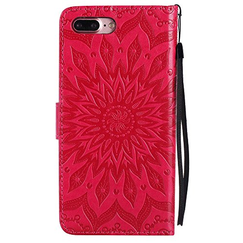 Custodia iPhone 7 Plus, cmdkd Wallet Custodia Bumper per iPhone 7 Plus. (Verde) Rosso