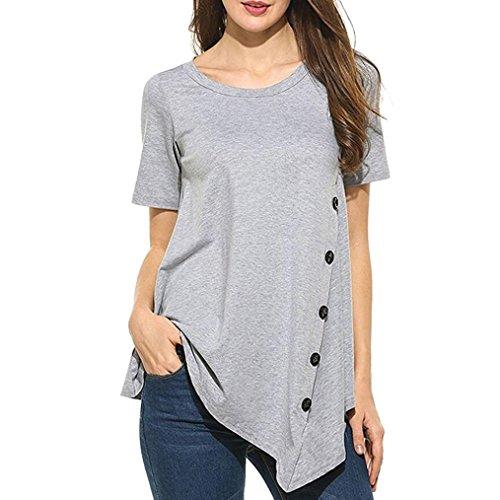 JUTOO Sommer T-Shirt Jeansjacke UV Tshirt Mädchen Baumwolle Funktionsshirt Oberteile engbers Hemd Kurzarm Laufshirt Damen t Shirt Tunika Hemden