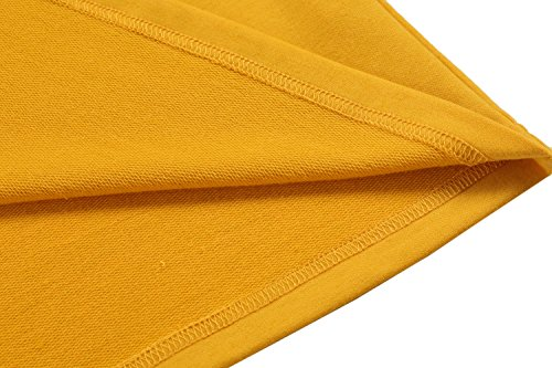 Aulei Hemd Herren T Shirt Langarm Slim Fit Hemden Männer Freizeit Tops Oberhemd Gelb