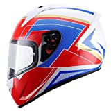 WWtoukui Importierte Profis Motorrad-Helm, Fashion-Männer und Frauen Locomotive Mountain Bike Racing Off-Road Motorcycle ATV Downhill Full Face Helm, DOT-Zertifizierung,E,XL