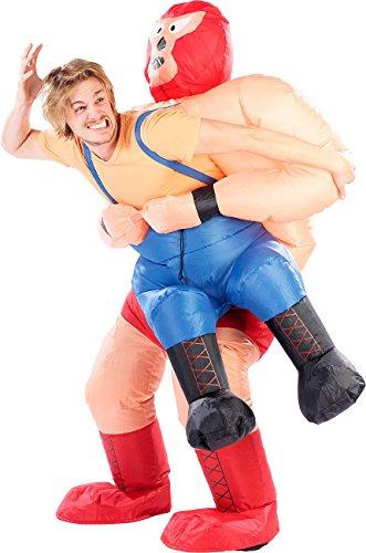 (Playtastic Männer-Kostüm: Selbstaufblasendes Kostüm Wrestler im Klammergriff (Herrenkostüme))