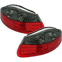 AD Tuning GmbH & Co. KG LED Faros Traseros Set, Transparente Cristal Rojo –