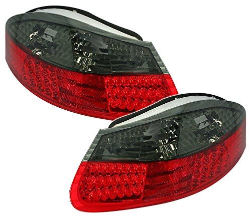 AD Tuning Lot de Feux arrière LED en Verre Transparent Rouge - Smoke