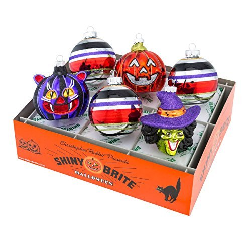 Shiny Brite Halloween Rounds and Figures Ornament - Set of Six by Shiny Brite