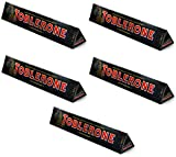 Toblerone Large Dark Chocolate Bar, 360g - Pack of 5