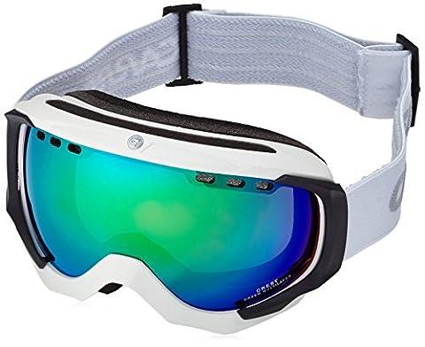 Carrera Herren Skibrille Crest Sph, Weiß/Matt/Green, M003717DV99Z9