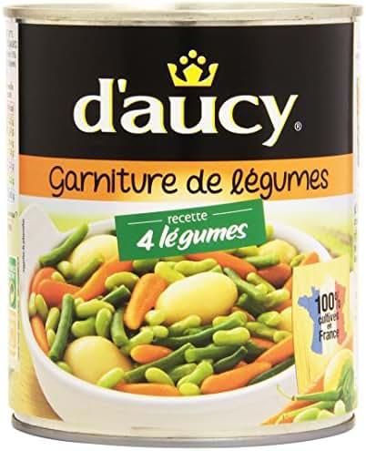D'Aucy Garniture de 4 Légumes 510 g Net