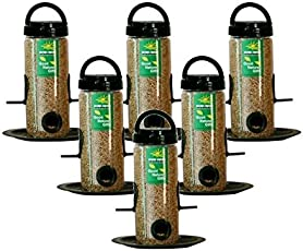 Nature Forever Bird Feeder Combo Pack, Transparent (6 Pieces)