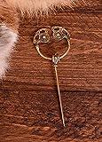 Battle-Merchant Vikingo Oro Español sbor ough de latón Aphrodite Gold Broche Vikingo gewand Joyas fibel Larp