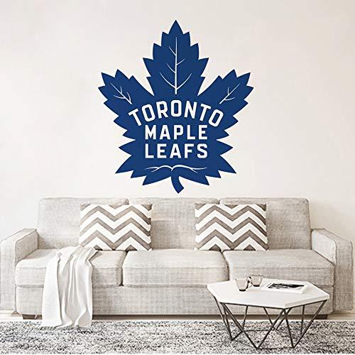 zqyjhkou Toronto Maple Leafs Vinyl Wohnkultur Kanada Stil Wandkunst Aufkleber Hockey Sport Logo Vinyl Kunst Poster Wohnzimmer Kunst 57x64 cm