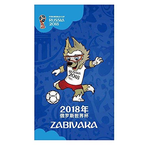 Yiwa 2018Russland World Cup Thema Flagge Banner zum Aufhängen Emblem Wimpelkette für Bar Party Dekorationen 96x 144cm, Mascot (Dekor Fußball-party-thema)