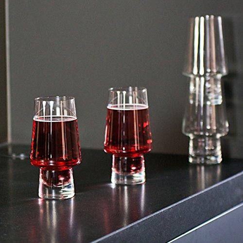 Magisso Pino Verre à bière, empilable, Verre, 9 x 9 x 17,5 cm, de 2 unités