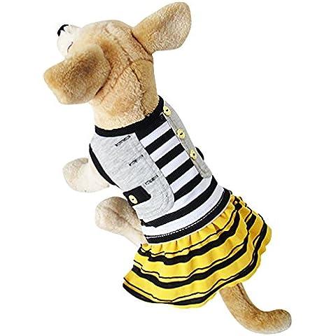 Primavera estate autunno cane pet dress clothes poco campi respirare dolce pieghe abito cane vestiti , s