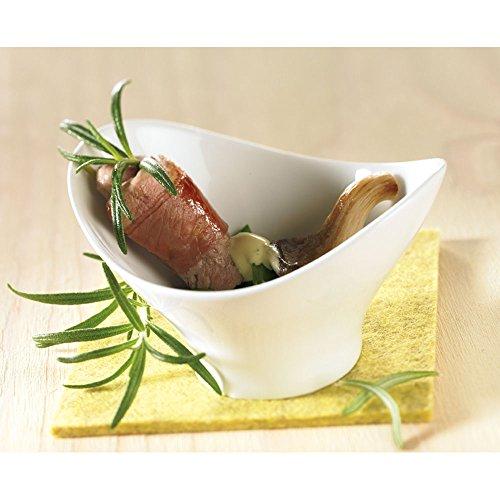 Ana®-sklera Mini cuenco (6unidades, ideal para salsas y aperitivos, de porcelana (10x 7,8x 5,7cm)