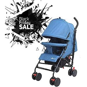 Stroller for Kids Lightweight Buggy Easy Fold Travel Stroller Buggy Foldable for Travel (Blue)   15