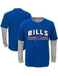 "Buffalo Bills Youth Jeunes NFL ""Bleachers"" L/S Faux Layer Thermal Shirt Chemise"