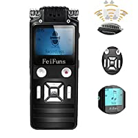 feifuns USB Digital Voice Recorder,Rechargeable Audio Recorder MP3 Player with Mini USB Port 8GB 1536Kbps Noise Reduction Sound Recording Dictaphone for Learning Meeting Interview with Headphones