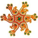 Curiocity Handicraft Designer Rangoli ,10 Inch Dia - 7 Piece Set - Packed In Crystal Box