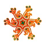 #1: Curiocity Handicraft Designer Rangoli ,10 Inch Dia - 7 Piece Set - Packed In Crystal Box