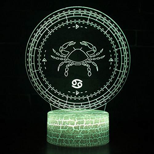 orangeww Lampen Constellation-Schreibtischlampe Children-Cancer-Touch 7 Color-Crack weiß-3d
