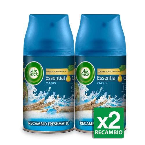 Air Wick - Ambientador Freshmatic Recambio, Oasis Turquesa, Pack de 2