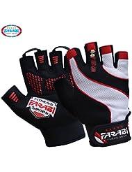 Farabi gants en Néo-gel rembourrés pour lever des poids, pour l'entraînement aux poids, pour le culturisme, pour le fitness au gym à la maison avec une prise et des courroies pour lever des poids.